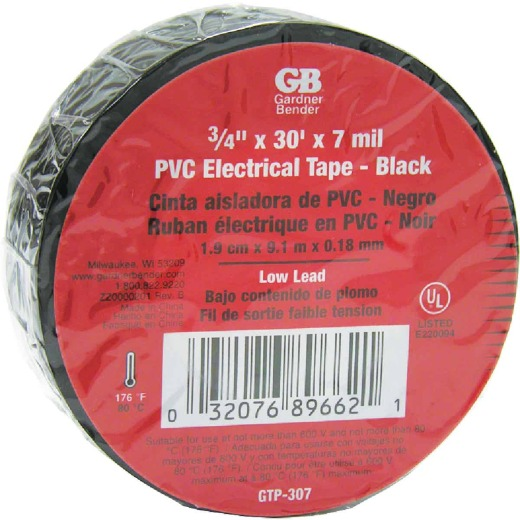 Gardner Bender General Purpose 3/4 In. x 30 Ft. Electrical Tape