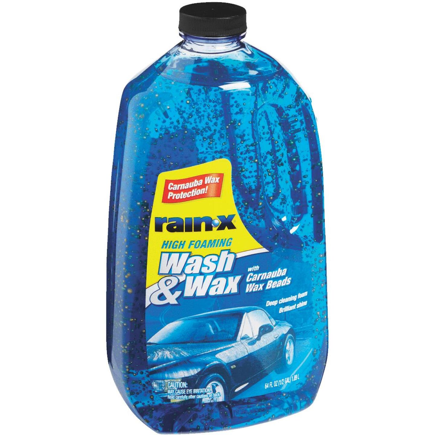 RAIN-X 64 Oz. Liquid High Foaming Car Wash & Wax w/Carnauba Wax Image 2