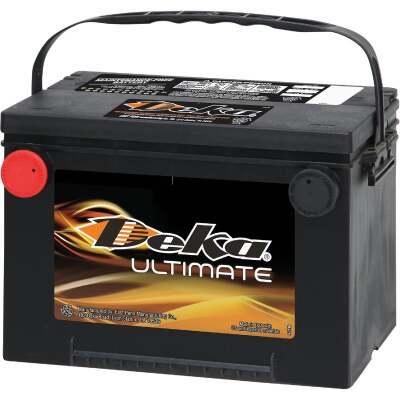 Deka Ultimate 12-Volt 800 CCA Automotive Battery, Side Post Left Front Positive Terminal