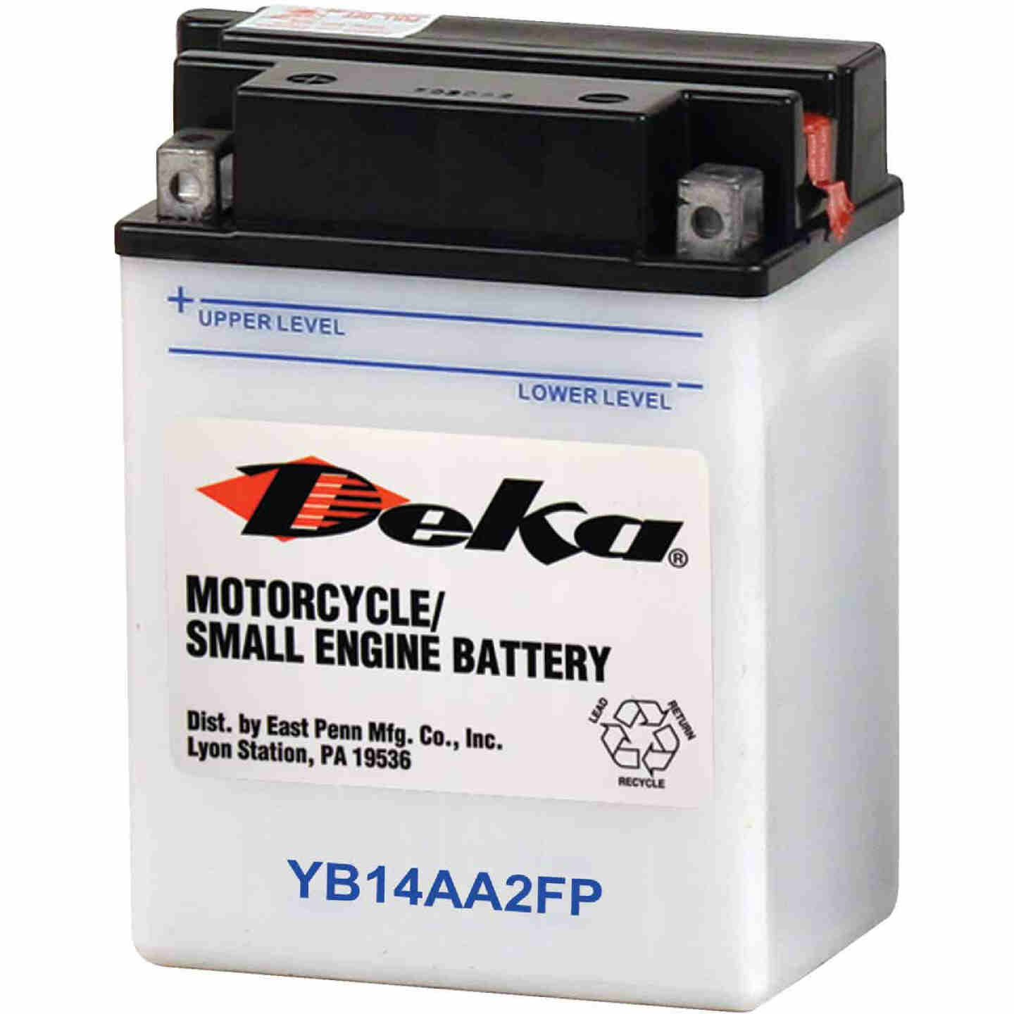 Deka 12-Volt 190 CCA Powersport Battery, Left Front Positive Terminal Image 1