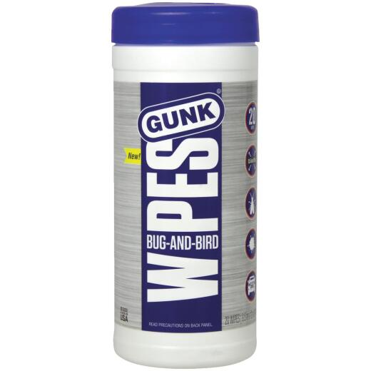 Gunk Bug-N-Bird Bug Remover Wipes (20-Pack)