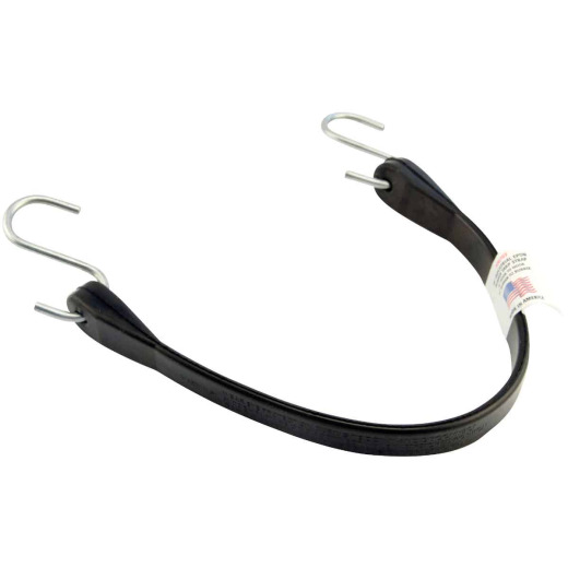 Erickson 18 In. Hook-to-Hook Black Industrial EDPM Rubber Tarp Strap