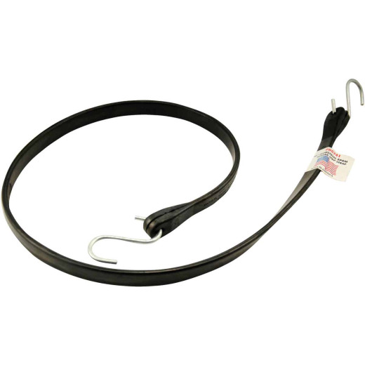 Erickson 44 In. Hook-to-Hook Black Industrial EDPM Rubber Tarp Strap