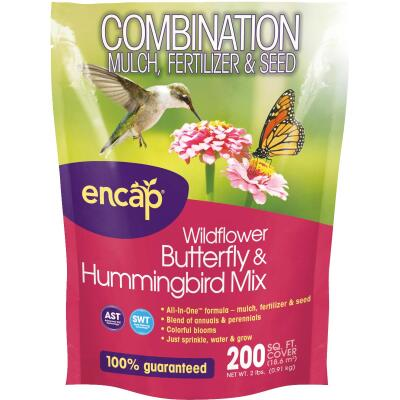 Encap All-In-One 2 Lb. 200 Sq. Ft. Coverage Butterfly & Hummingbird Wildflower Seed Mix