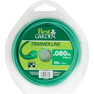 Best Garden 0.080 In. x 50 Ft. Round Trimmer Line