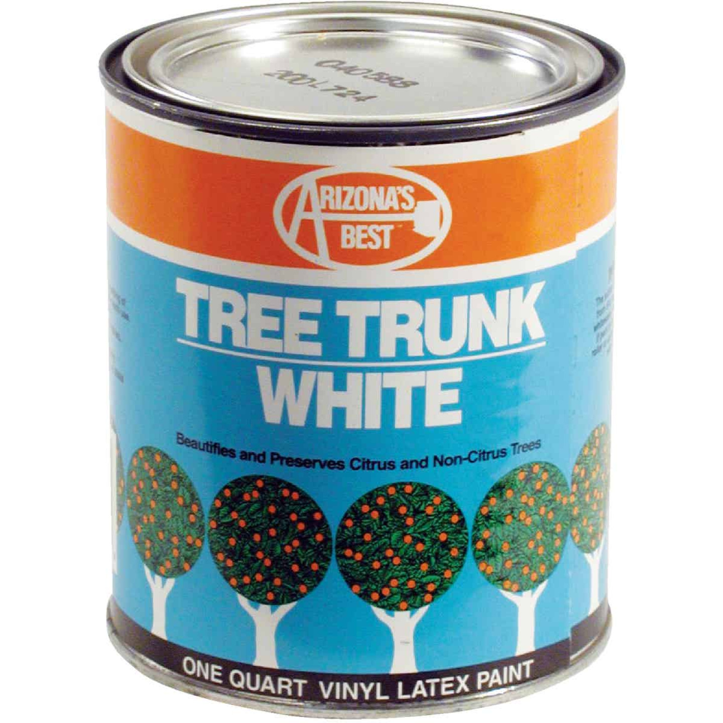 Arizona's Best White Vinyl Latex Paint 1 Quart Tree Trunk Coating Image 1