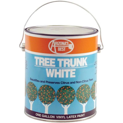 Arizona's Best White Vinyl Latex Paint 1 Gallon Tree Trunk Coating