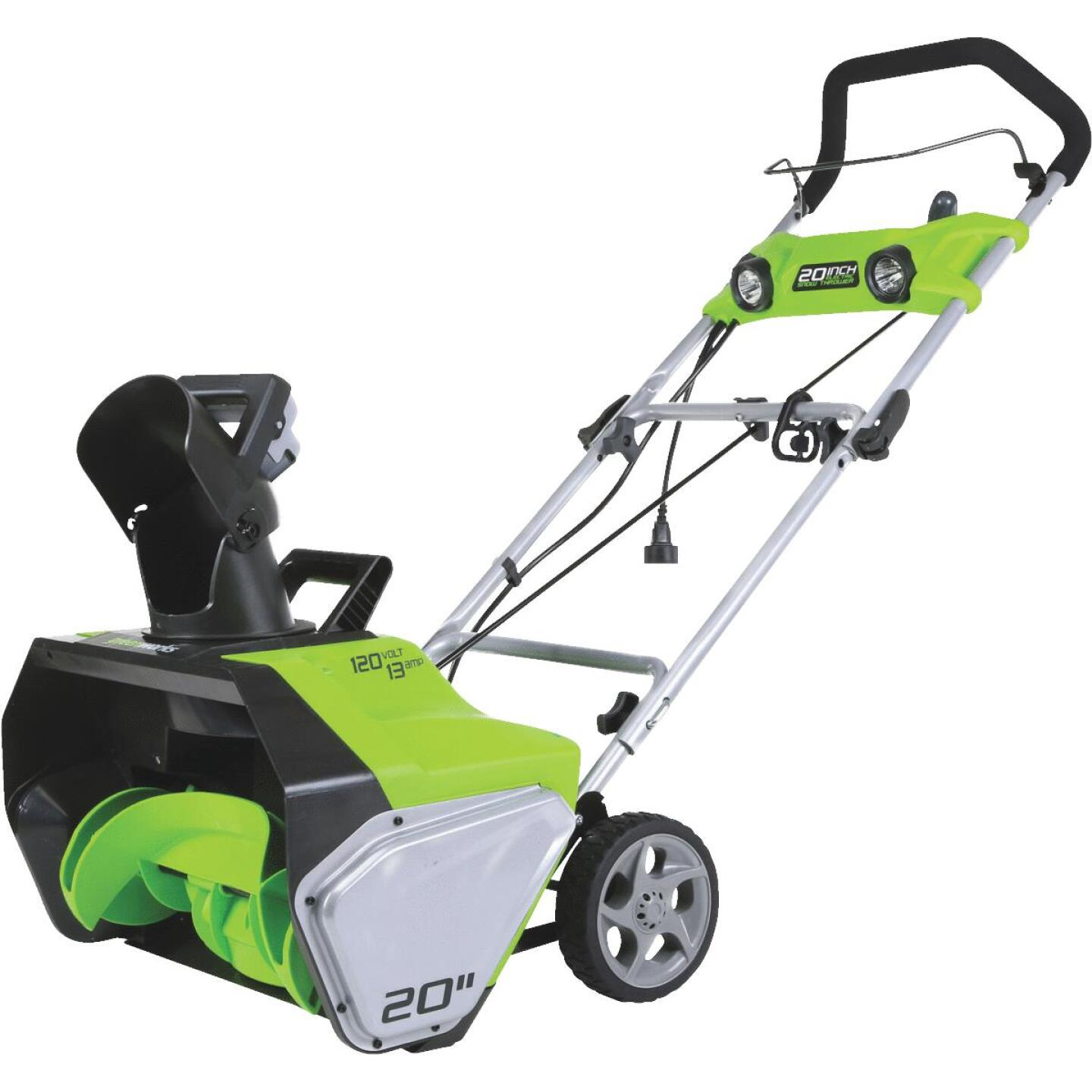 Greenworks 20 In. 13A Electric Snow Blower Image 1