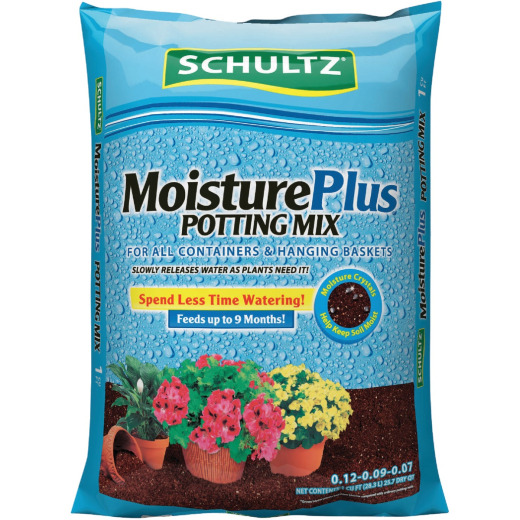 Schultz MoisturePlus 1 Cu. Ft. All Purpose Containers & Hanging Baskets Potting Soil Mix