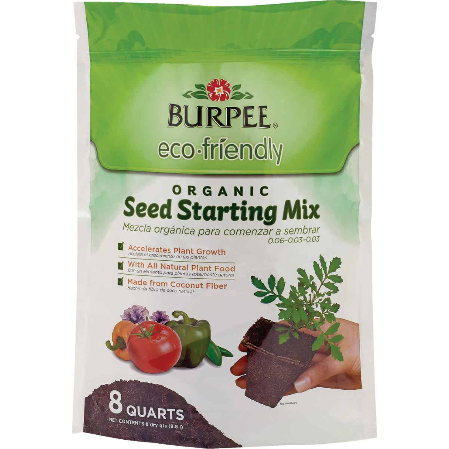 Burpee 8 Qt. 6 Lb. All Purpose Container Organic Seed Starting Mix Image 1