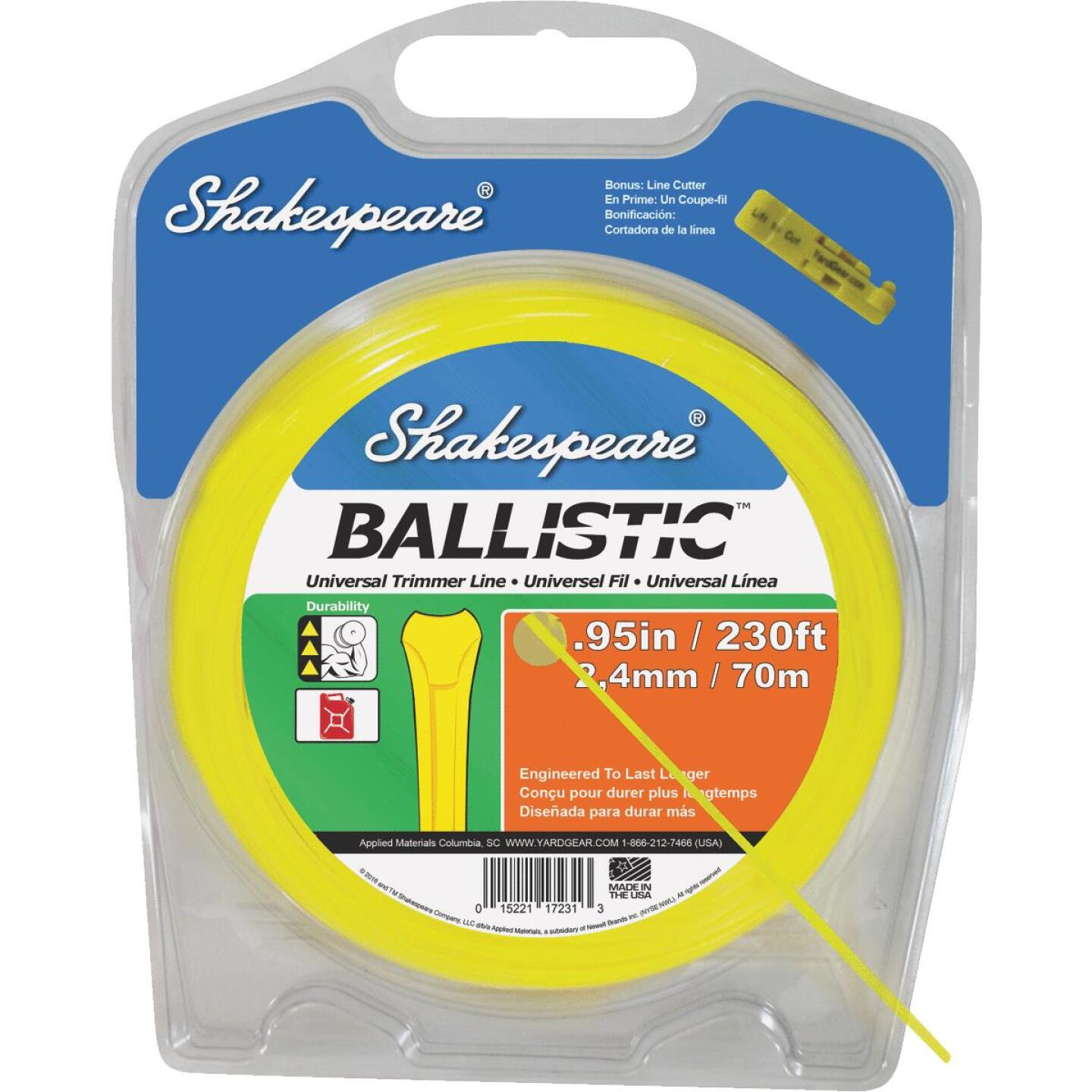 Shakespeare Ballistic 0.095 In.x 300 Ft. Universal Trimmer Line Image 1