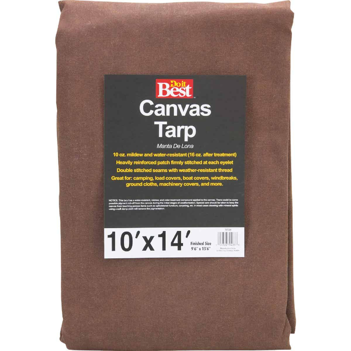 Do it Best 10 Oz. 10 Ft. x 14 Ft. Canvas Tarp Image 1