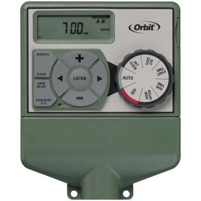 Orbit Easy Dial 4-Station Indoor Hardwired Sprinkler Timer
