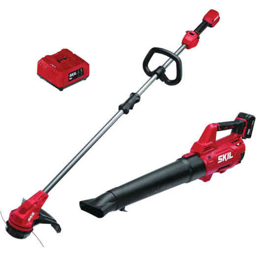 SKIL PwrCore 20V Brushless Leaf Blower & 20V 13 In. Brushless String Trimmer Combo Kit