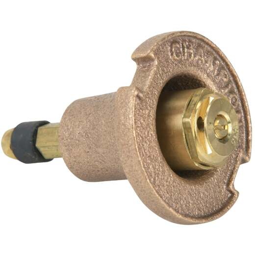 Champion 1.25 In. Half Circle Brass Pop-Up Sprinkler with Brass Nozzle