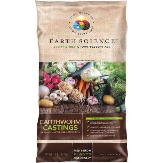 Earth Science 12 Lb. Earth Worm Castings Soil Conditioner