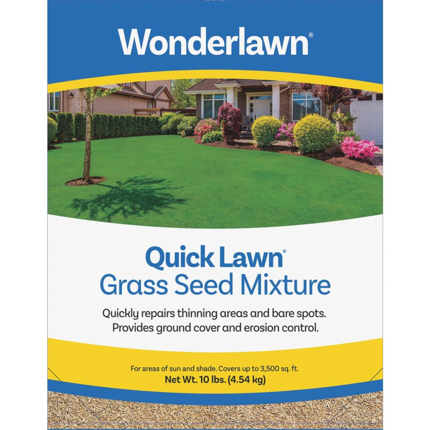 Wonderlawn Quick Lawn 10 Lb. 3000 Sq. Ft. Coverage Annual & Perennial Ryegrass Grass Seed Image 1