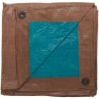 Do it Best 1 Side Green/1 Side Brown Woven 9 Ft. x 12 Ft. Medium Duty Poly Tarp Image 3
