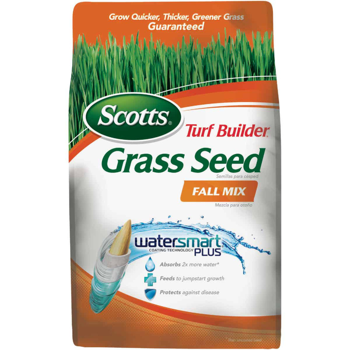 Scotts Turf Builder 3 Lb. Up To 1200 Sq. Ft. Coverage Thermal Blue KY Bluegrass Fall Mix Grass Seed Image 1