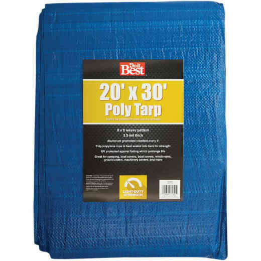 Do it Best Blue Woven 20 Ft. x 30 Ft. General Purpose Tarp
